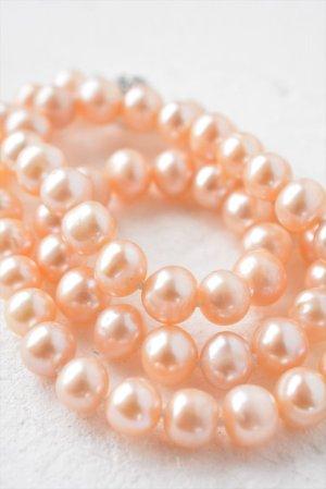 画像3: 【ちょっぴりアウトレット】6.5-7.5mm ポテト型ネックレス ピンク