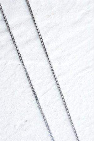 画像1: ペンダント用シルバーチェーン・ベネチアンカットタイプ(シルバー/細/40cm、45cm)
