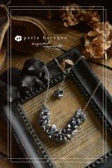 *ailes de pb* バロックーパールデザインネックレス〜baroque luciole C〜 ブラックグレー
