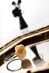 【PBオリジナル!】大粒淡水バロックパール フリーサイズリングTypeAF〜Nezumi-chan〜 ライトピンク×シルバー Mサイズ