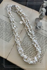 バロックパール デザイン4連ネックレス ホワイト