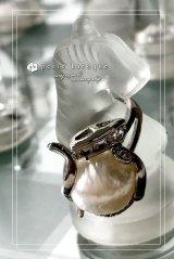 淡水パールデザインリング〜Little teapot〜 WH