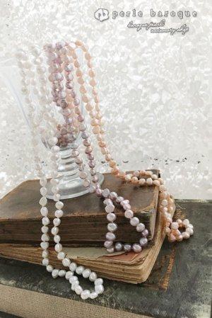 画像1: 淡水真珠バロックパールロングネックレス ホワイト/ピンク/パープル