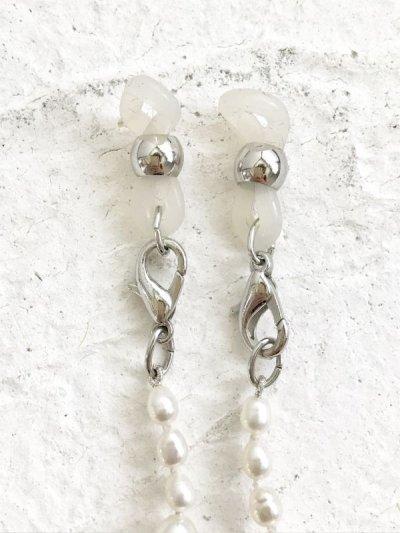 画像2: 2way淡水真珠グラスコード&ロングネックレス ホワイト